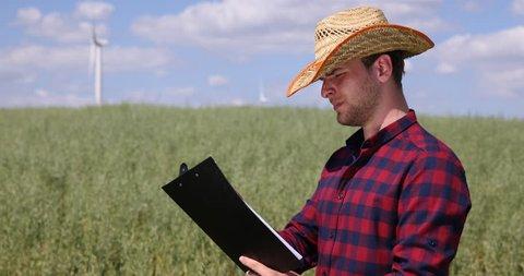 Farmer browsing online